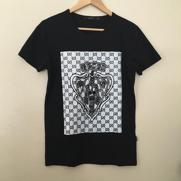 e6898e5d6224 Gucci Tops | Monogram Tshirt M Mens Unisex Black White | Poshmark